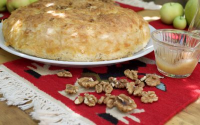 banitsa - honey and walnuts